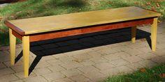 "Solid Brazilian Satinwood (Yellowheart) and Bubinga coffee table 60""L x 17""W x 16""H"