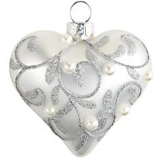 Glass Mini Heart Ornament from Pier1. Ok, so this is listed with wedding stuff, but I would SO use this on my Christmas tree.