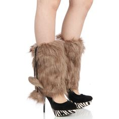 Fashion Chic Furry short faux fur boot covers Tan PCS2000 Great gift for Christmas - girlfriend - wife - Mother. Fall scarf - Winter Scarf. Comes in clear plastic wrap. different designs to choose from. perfect for any occasion.  #ParisianChic #Apparel