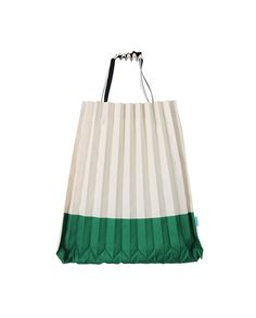 Two Tone Trunk Pleat Bag