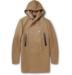 BalenciagaWool-Blend Hooded Coat|MR PORTER $1475
