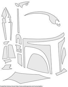 Awesome Boba Fett stencil... Maybe for a jack o' lantern?