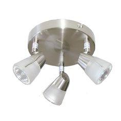 Loftlampe m. 3 spot 12V halogen til campingvogne   Matkrom   Med afbryderkontakt.