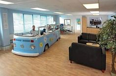 VW desk - Hilarious! Love this  This would be my husband IF he ever had to sit at a desk :)