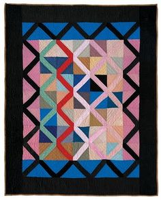 "Lattice quilt from ""Amish Abstractions: Quilts from the Collection of Faith and Stephen Brown"""