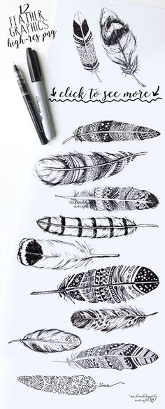 BOHO RUSTIC FEATHERS by WeLivedHappilyEverAfter