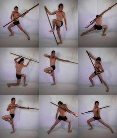 Image result for battle poses staff