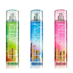 Bath & Body Works Sun, Air, and Sky Collection for Spring 2014 – Musings of a Muse Bath & Body Bath Body Works, Bath And Body Works Perfume, Bath N Body, Perfume Body Spray, My Sun And Stars, Lush Products, Beauty Products, Lush Bath Bombs, Homemade Cosmetics