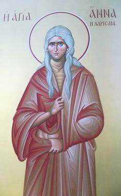 Orphan Saint Anna cent) was adopted by a nobleman who raised and educated… Catholic Saint Names, Catholic Saints, Roman Catholic, Religious Paintings, Byzantine Icons, Holy Mary, Godly Man, Orthodox Icons, Sacred Art