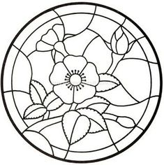 drawing great for stained glass or appliqué