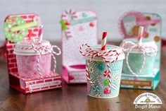 "Brigit's Scraps ""Where Scraps Become Treasures"": Coffee Cup Treat Holders - Doodlebug Design Team Project"
