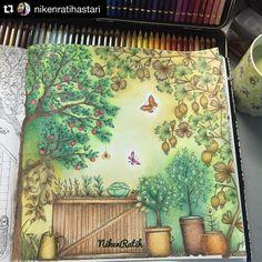 Encantada com essa inspiração  Tão lindo e delicado! Colorido pela @nikenratihastari