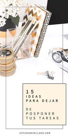 15 IDEAS para organizar tus tareas pendientes