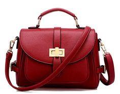 Fancy Solid Medium Messenger Bag