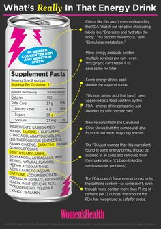FINALLY! The truth about energy drink ingredients: http://blog.womenshealthmag.com/scoop/the-truth-about-energy-drinks/