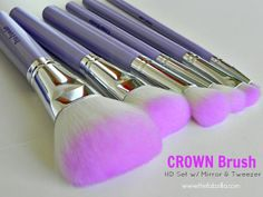Review: Affordable Brushes from Crown Brush (HD Set with Mirror and Tweezer) #crownbrush