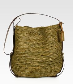 Santorini Large Crocheted Raffia Crossbody - MIchael Kors
