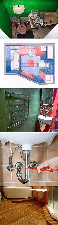 Общие советы по капитальному ремонту санузла и ванной комнаты