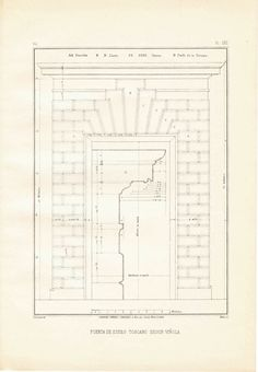 Architectural Drawing Window doors, arcades, windows, architectural print vignola, steel