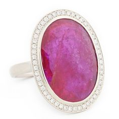 Large Oval Rosecut Ruby Ring | One of a Kind Jewellery | Anne Sportun Fine Jewellery Style: RX1329 | Anne Sportun Fine Jewellery | Rings - Necklace - Bracelets & Charms - Earrings | Custom Handcrafted Jewellery | Toronto - Canada