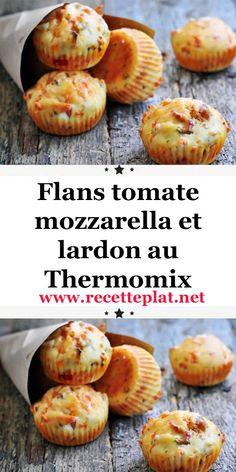 Flans tomate mozzarella et lardon au Thermomix – Famous Last Words Food Porn, Healthy Snacks, Healthy Recipes, Tomate Mozzarella, Coffee Benefits, Low Fat Diets, Fiber Foods, Batch Cooking, Calorie Intake