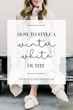 A chic, all-white look has an air of elegance, but it's easy to pull off with these tips—plus, a roundup of beautiful winter white pieces. All White Outfit, Neutral Outfit, White Outfits, New England Fashion, East Coast Style, Cream Shoes, Monochrome Fashion, Colourful Outfits, Winter White