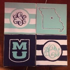 Painted college canvas #craft #diy #college #dorm