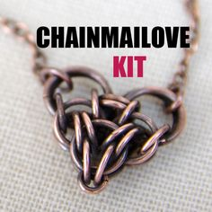 Chainmailove unit, chainmaille heart kit by Verha on Etsy