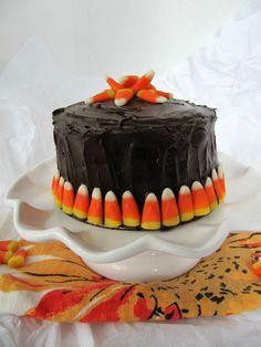 Pine Cones and Acorns Chocolate Pumpkin Cake with @Hersheys Frosting ...