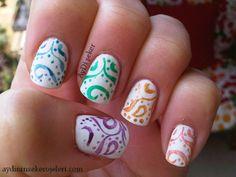 delicate print nails