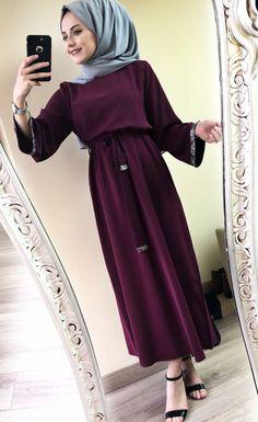 Hijab Chic, Hijab Style Dress, Modest Fashion Hijab, Abaya Fashion, Hijab Outfit, Fashion Outfits, Hijab Fashionista, Islamic Fashion, Muslim Fashion