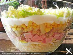 Schichtsalat, ein leckeres Rezept aus der Kategorie Gemüse. Bewertungen: 190. Durchschnitt: Ø 4,4.