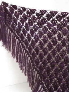 FREE SHIPPING..DARK Eggplant Purple mohair tringle by asuhan on Etsy, $85.00