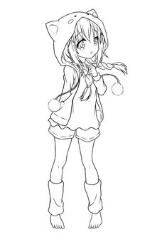 You can find here 6 free printable coloring pages of kawaii anime. Kawaii coloring pages collection in excellent quality for kids and adults. Manga Coloring Book, Chibi Coloring Pages, Barbie Coloring Pages, Mermaid Coloring Pages, Cat Coloring Page, Coloring Pages For Girls, Cool Coloring Pages, Coloring Books, Coloring Sheets
