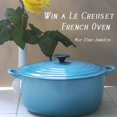 Win this Le Creuset French oven! Check out www.thenourishinggourmet.com