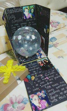 Caja sorpresa de cumpleaños – Geschenk – Diy Gifts For Friends Birthday Presents For Friends, Diy Gifts For Friends, Bff Gifts, Friend Birthday Gifts, Diy Gifts For Boyfriend, Best Friend Gifts, Cute Gifts, Cute Birthday Gift, Bff Birthday