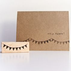 bunting rubber stamp :: olive manna