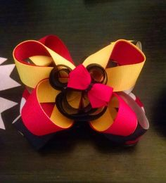 Red, black and yellow minnie $4.00