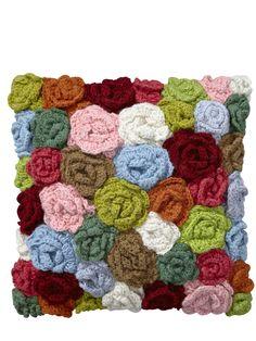 Interesting crocheted flowers cushion | very.co.uk