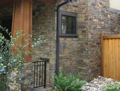 This exterior faced with Rustic Ranch Natural Stone Veneer. Natural Stone Veneer, Natural Stones, Masonry Veneer, Natural Materials, Square Feet, Ranch, Exterior, Rustic, Nature