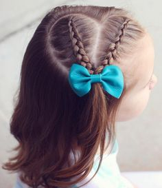 Heartshaped French side braids