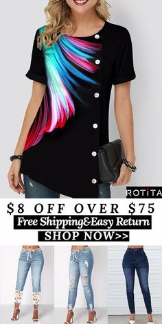 Shop womens tops Tops online,Tops with cheap wholesale price,shipping to worldwide Stylish Tops For Women, Cheap Womens Tops, Summer Outfits Women, Fall Outfits, Casual Outfits, Women's Summer Fashion, Trendy Fashion, Womens Fashion, Free Shipping