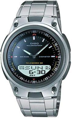 ab37880614ea Casio Men s Forester Illuminator Analog   Digital Databank Chronograph  Watch - AW80D-1AV