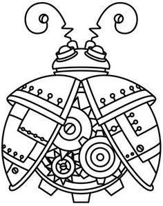 Steampunk Ladybug design (UTH4893) from UrbanThreads.com