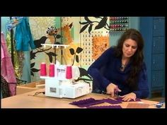 ▶ 512-2 Angela Wolf demonstrates making pleats using a cover stitch style machine on It's Sew Easy - YouTube