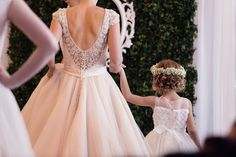 Photo Credit: Reid Photography Event Produced by: Events Hair & Makeup by: Total E'Clips Models: Shine Models Gowns provided by Bridal Bridal Gowns, Wedding Dresses, Wedding Show, Love Is Sweet, Photo Credit, Bliss, Hair Makeup, Flower Girl Dresses, Brides