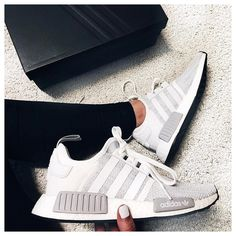 Dr Shoes, Nike Air Shoes, Hype Shoes, Adidas Running Shoes, Adidas Nmd R1, Cute Sneakers, Adidas Sneakers, Nmd Sneakers, Grey Sneakers