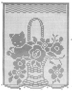 un solo color Filet Crochet, C2c Crochet, Crochet Lace, Crochet Curtain Pattern, Crochet Curtains, Curtain Patterns, Beading Patterns, Crochet Patterns, Tatting Tutorial