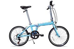 Allen Sports Urban X Aluminum 7 Speed Folding Bicycle, Sky, 12-Inch/One Size ** You can find more details by visiting the image link.
