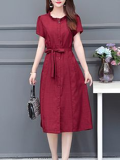 New Arrival Women's Clothing Online Sale Elegant Dresses, Casual Dresses, Fashion Dresses, Fashion Styles, Blue Evening Dresses, Dress Silhouette, Buy Dress, Dress Collection, Beautiful Gowns